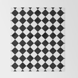 Rhombus (Black & White Pattern) Throw Blanket