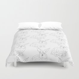 Bunny Rabbit Pattern Minimal Shabby Chic Girls Room Duvet Cover