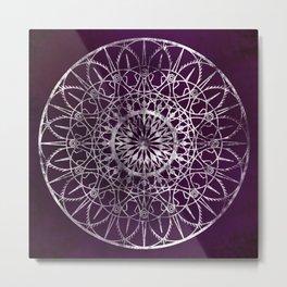 Fire Blossom - Violet Metal Print