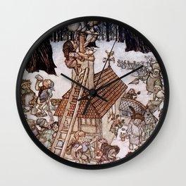 """""""A House for Maimie"""" by Arthur Rackham Wall Clock"""