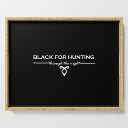 Black for Hunting Serving Tray