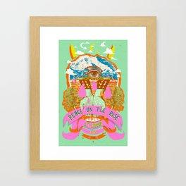PEACE ON THE RISE Framed Art Print