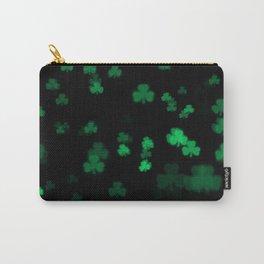 Green Bokeh Shamrocks Carry-All Pouch