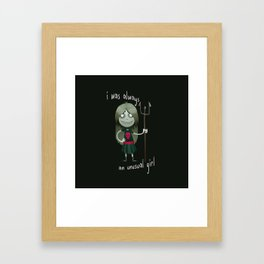 Unusual Series - A Girl and Her Trident Framed Art Print