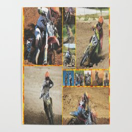 Motocross Collage Poster