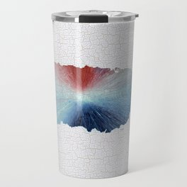 Colorful Art Puerto Rico Map Blue, Red and White Travel Mug