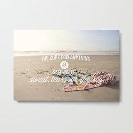 salt water cure Metal Print