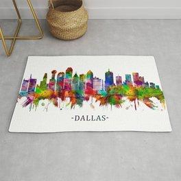 Dallas Texas Skyline Rug