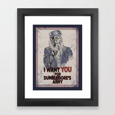 Uncle Dumbledore Framed Art Print
