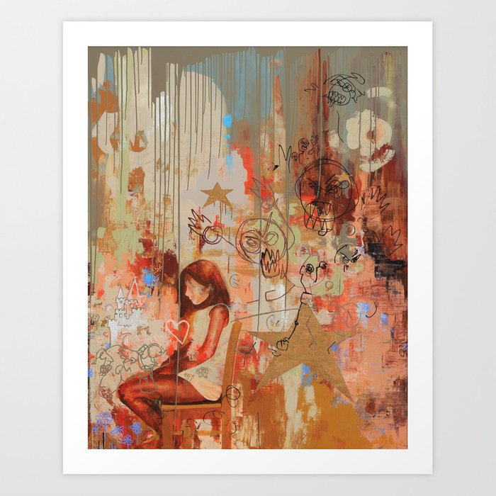 Gabi's World Art Print