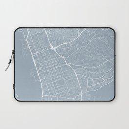 Chula Vista Map, USA - Slate Laptop Sleeve