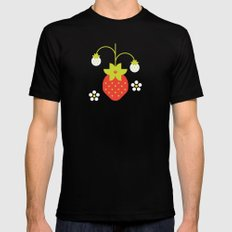 Fruit: Strawberry Mens Fitted Tee MEDIUM Black