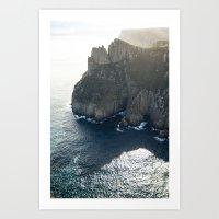 Tasmanian Sea Cliffs Art Print