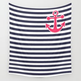 12 Blue , white , striped Wall Tapestry