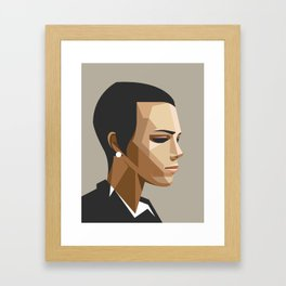 Office girl Framed Art Print