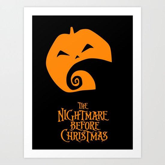 The Nightmare before Christmas Art Print
