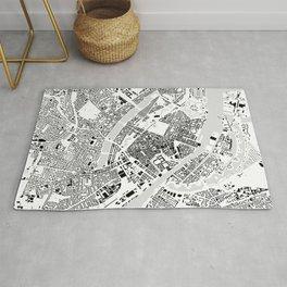 Copenhagen building city map Rug