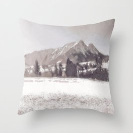 Winterly Landscape II Throw Pillow