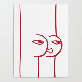 Mocking Face Butt Poster