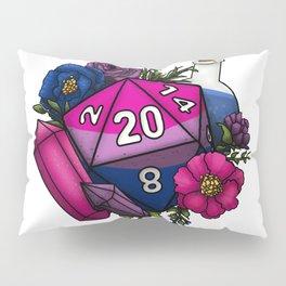 Pride Bisexual D20 Tabletop RPG Gaming Dice Pillow Sham