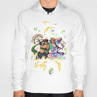 jojo Hoodies featuring JoJo & Caesar JJBA Battle Tendency by Lemonade Stand Of Life