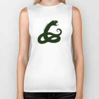 slytherin Biker Tanks featuring Slytherin by Caleb Cowan