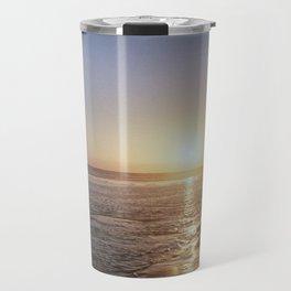 Sunset - La Palmyre, France Travel Mug
