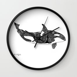 Flying  Orca Wall Clock