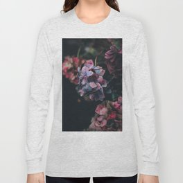 FLOWERS - FLORAL - PINK - RED - PHOTOGRAPHY Long Sleeve T-shirt
