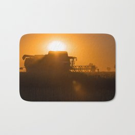 Midsummer time is harvest time of the cereal fields Bath Mat