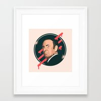 frank underwood Framed Art Prints featuring Underwood by Perry Misloski