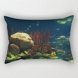 In  the Aquarium Rectangular Pillow