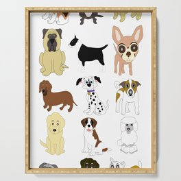 Pet dogs design Serving Tray