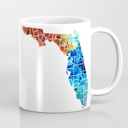 Florida - Map by Counties Sharon Cummings Art Coffee Mug
