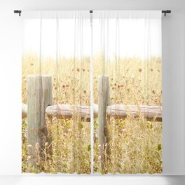 Travel photography Spring fence I Blackout Curtain