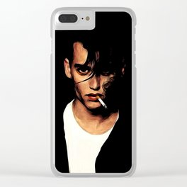 Off The Depp End Clear iPhone Case