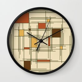 1940s Abstract Art Lines Wall Clock