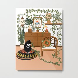 plant lady is the new cat lady Metal Print