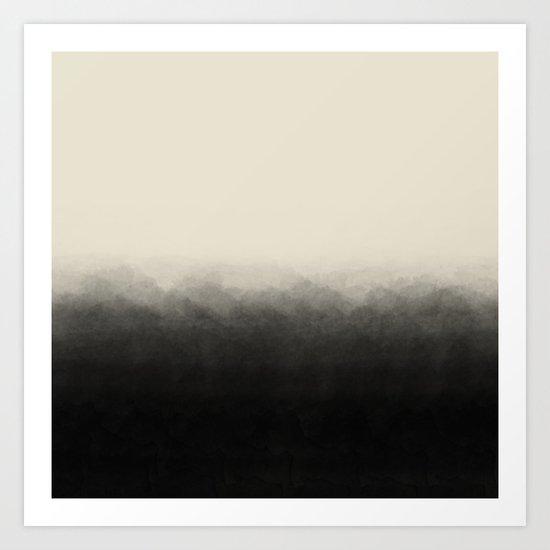 Fade to Black Mountains Art Print