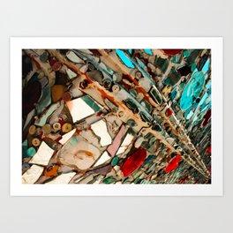 Abstract Mirror Button Baltimore Mosaic Print Art Print