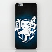 ravenclaw iPhone & iPod Skins featuring White Ravenclaw Crest by Sharayah Mitchell
