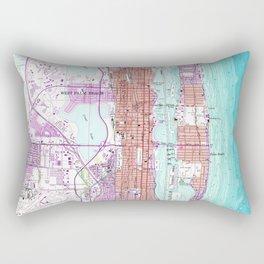 Vintage Map of Palm Beach Florida (1946) Rectangular Pillow