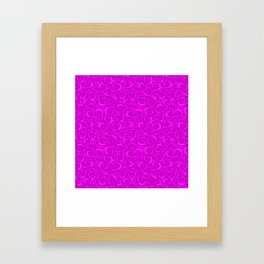 Neon floral pattern . Bright pink roses. Framed Art Print