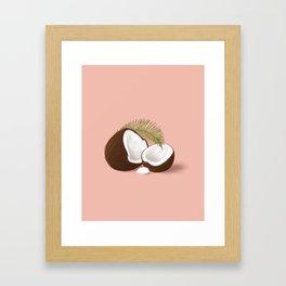 Coconut vibes Framed Art Print