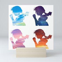 weathering with you hina sky print Mini Art Print