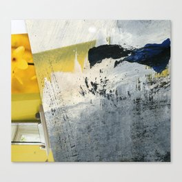 Mellow Yellow Texture Collage Canvas Print