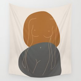 Line Female Figure 81 Wall Tapestry