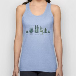 Watercolour Cacti & Succulents Unisex Tank Top