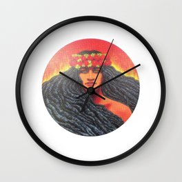 Goddess Pele of Hawaii Wall Clock