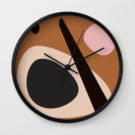 abstract brown Wall Clock